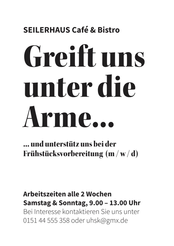 You are currently viewing Greift uns unter die Arme…